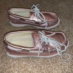 Other - Sperry Pink Shimmer Boat Shoes